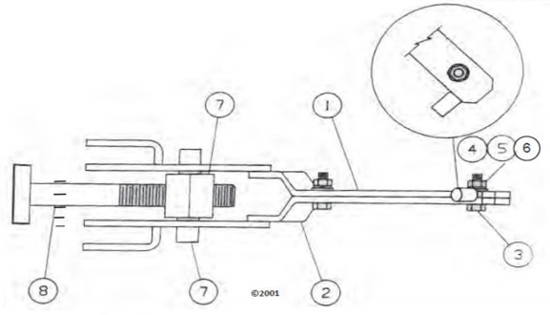 Picture of Lower Door Lock Assembly - Parts